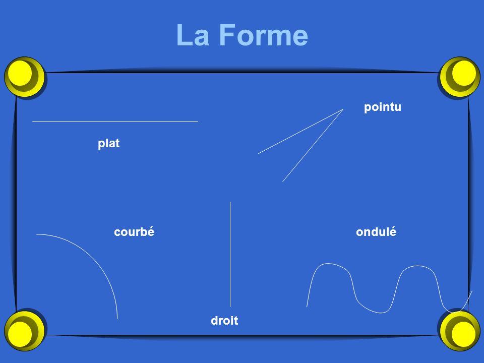 La Forme plat pointu courbé droit ondulé