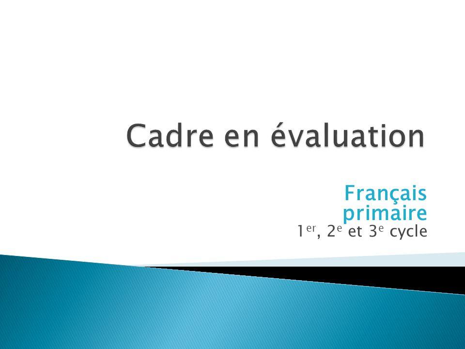 Français primaire 1 er, 2 e et 3 e cycle