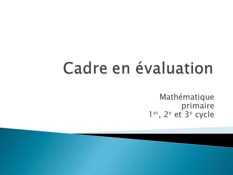Mathématique primaire 1 er, 2 e et 3 e cycle