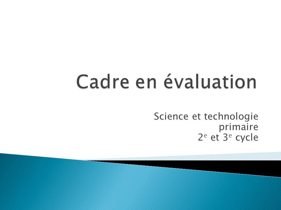 Science et technologie primaire 2 e et 3 e cycle