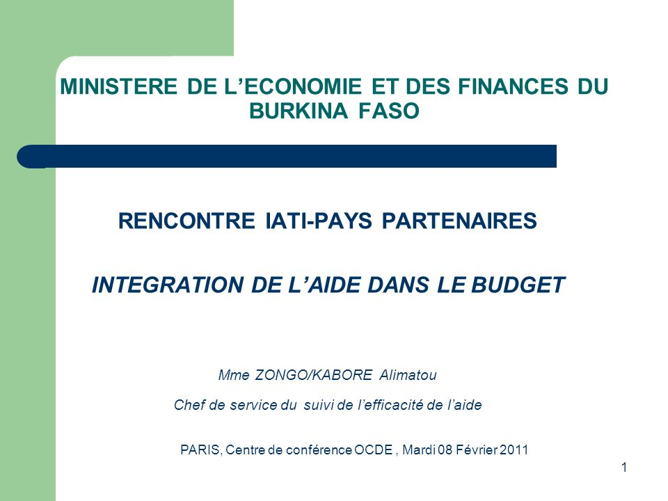 PLAN Introduction Le Programme Triennal DInvestissement Public Glissant(PTIP-G) et le Programme dInvestissement Prioritaire(PIP) Importance de lintégration de laide dans le budget Difficultés rencontrées Perspectives(la Plateforme de gestion de laide et lIATI)