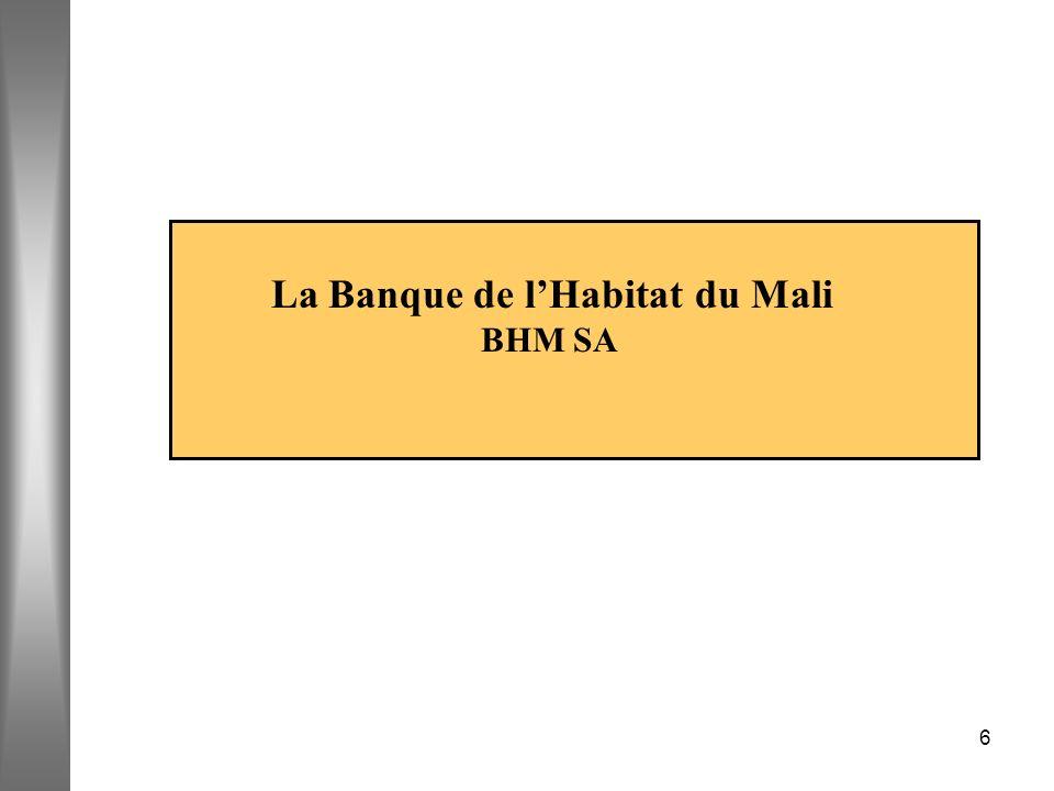 6 La Banque de lHabitat du Mali BHM SA