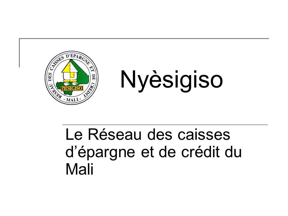 Le Réseau des caisses dépargne et de crédit du Mali Nyèsigiso