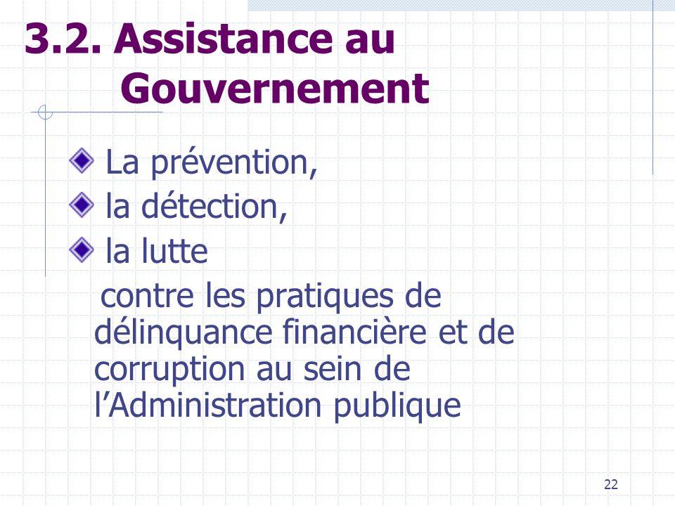 21 3.1. Coordination de la lutte anti-corruption Elaboration dune politique nationale de lutte anti-corruption Elaboration de programmes sectoriels de