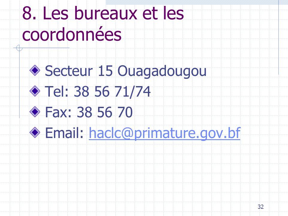 31 7. Le Budget de la HACLC Budget national Partenaires techniques et financiers