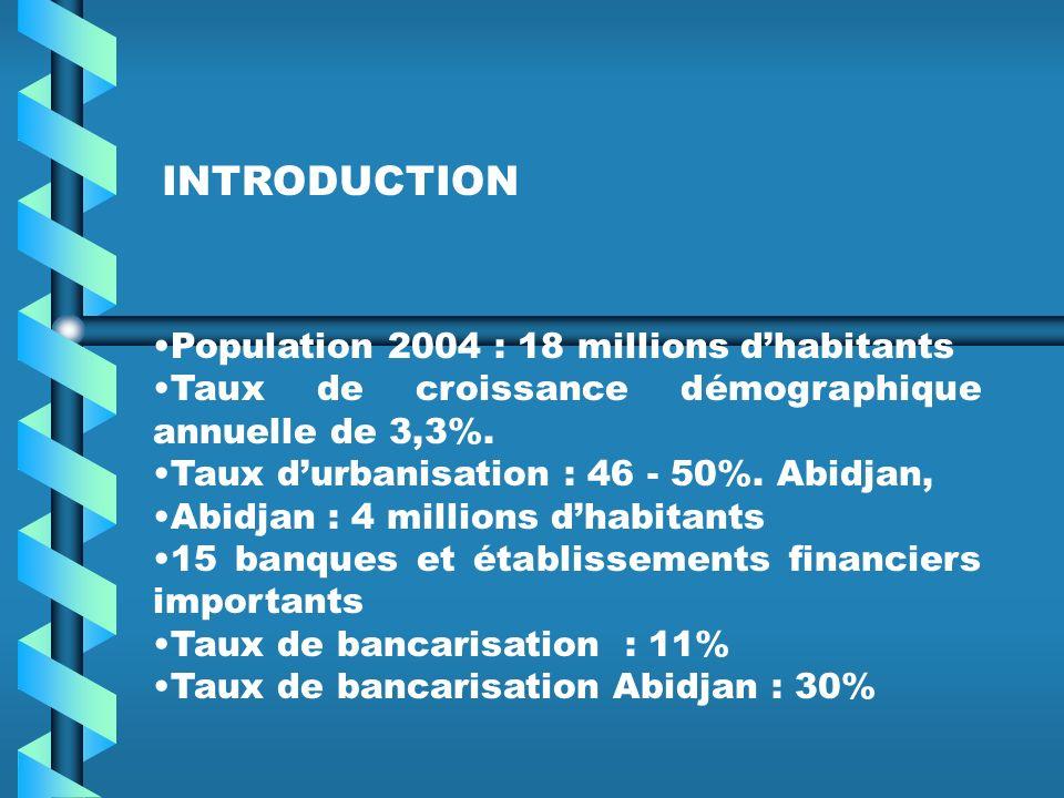 Population 2004 : 18 millions dhabitants Taux de croissance démographique annuelle de 3,3%.