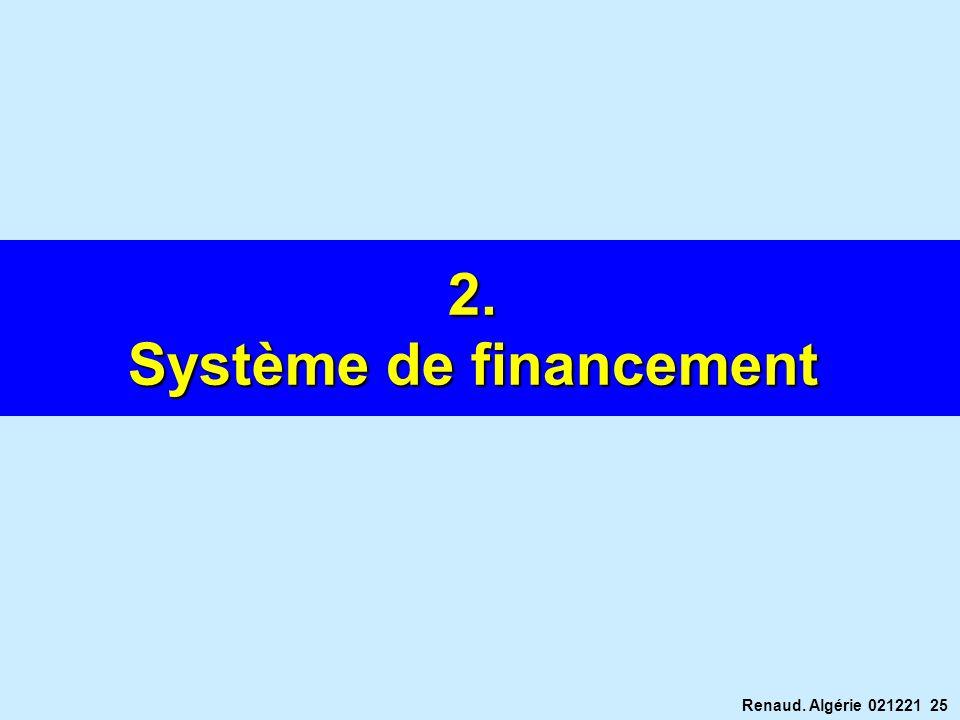 Renaud. Algérie 021221 25 2. Système de financement