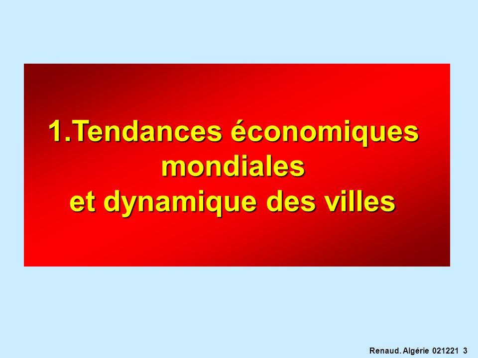 Renaud. Algérie 021221 3 1.Tendances économiques mondiales et dynamique des villes