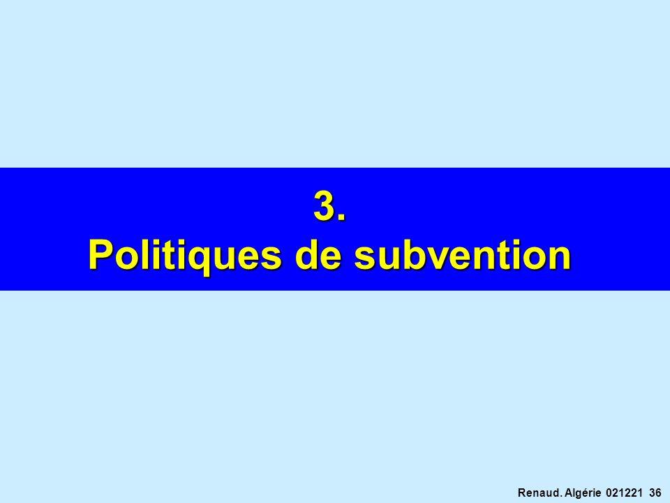 Renaud. Algérie 021221 36 3. Politiques de subvention