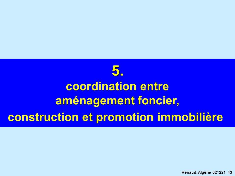 Renaud. Algérie 021221 43 5. coordination entre aménagement foncier, construction et promotion immobilière