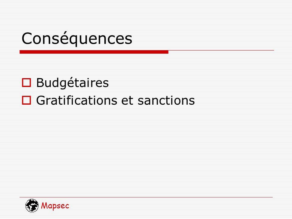 Mapsec Conséquences Budgétaires Gratifications et sanctions