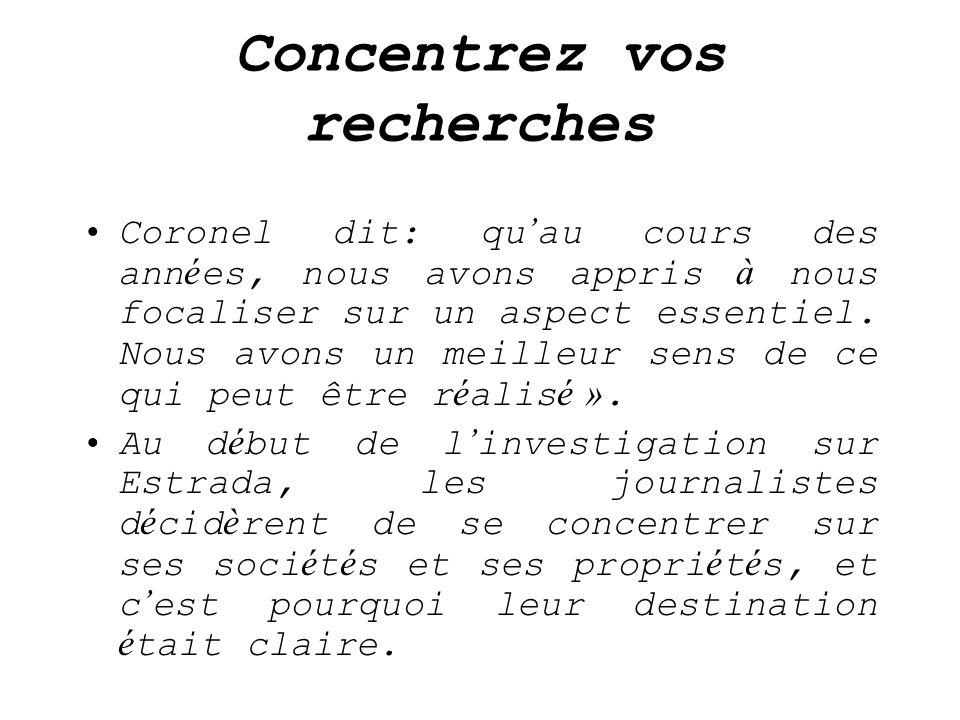 Concentrez vos recherches Coronel dit: qu au cours des ann é es, nous avons appris à nous focaliser sur un aspect essentiel. Nous avons un meilleur se