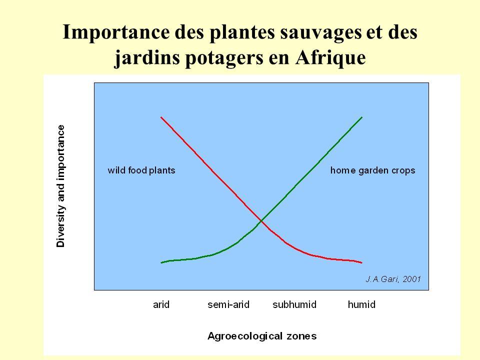 Importance des plantes sauvages et des jardins potagers en Afrique