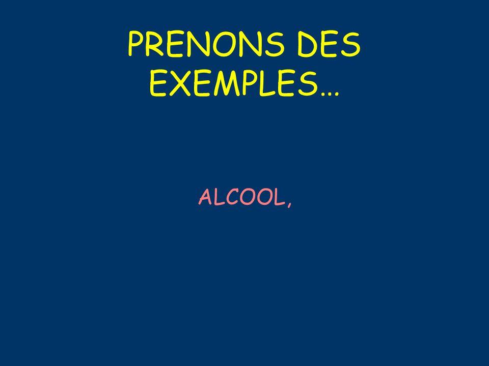 PRENONS DES EXEMPLES… TABAC
