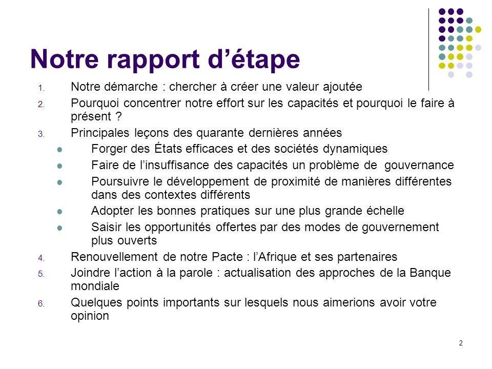 2 Notre rapport détape 1.Notre démarche : chercher à créer une valeur ajoutée 2.