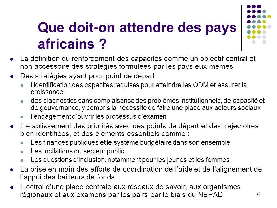 21 Que doit-on attendre des pays africains .
