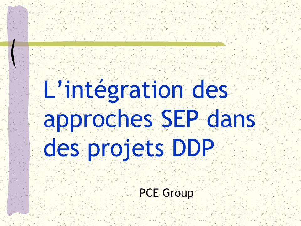 Lintégration des approches SEP dans des projets DDP PCE Group