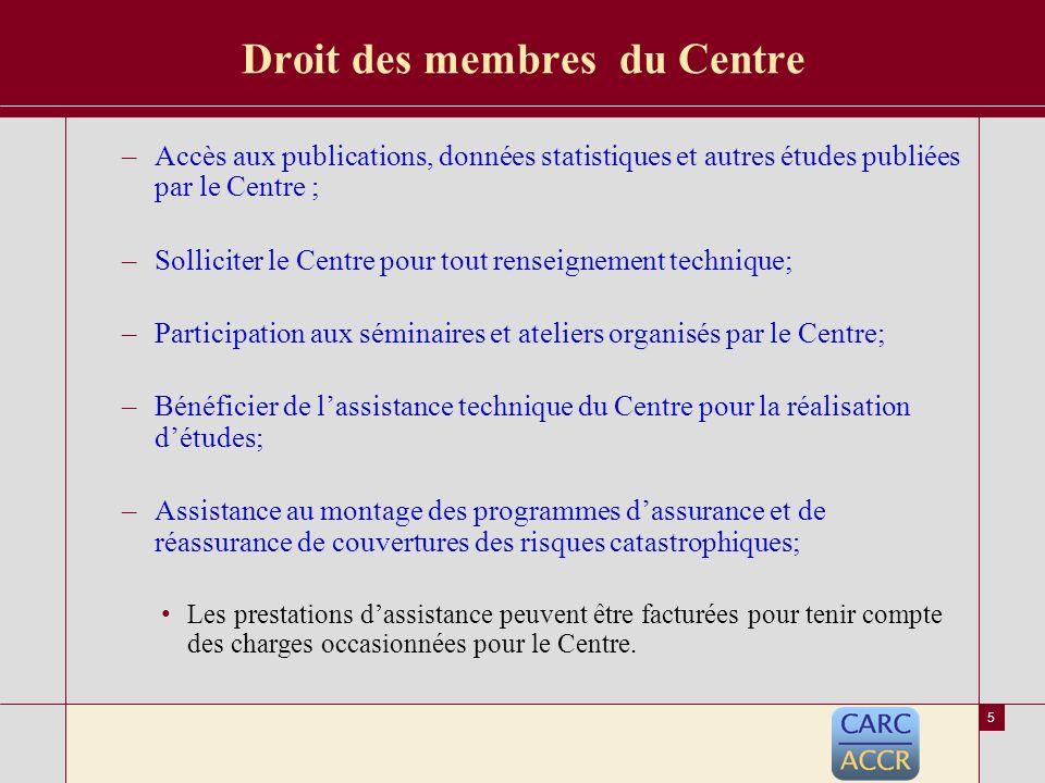 4 Gestion du Centre Organes de Gestion du Centre –LAssemblée Générale de lOAA.