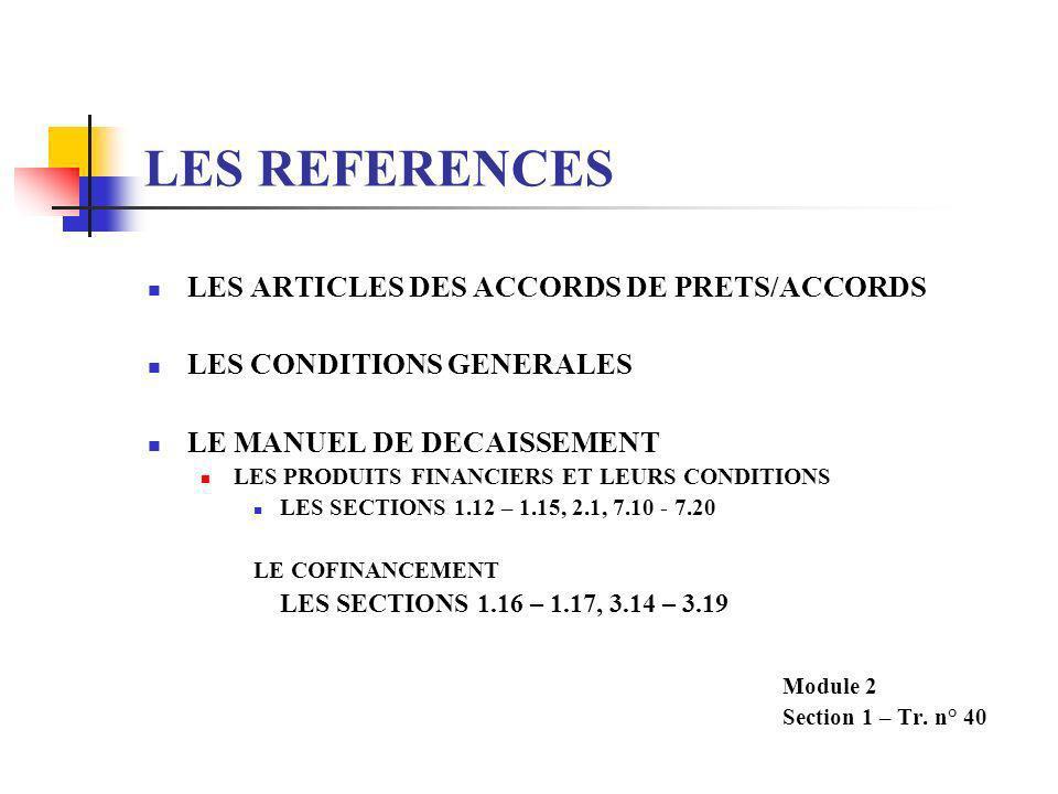 LE COFINANCEMENT (suite) ASPECTS JURIDIQUES LES COFINANCIERS PEUVENT AVOIR DES PRATIQUES DIFFERENTES SUR CERTAINES QUESTIONS COMME : LA REAFFECTATION