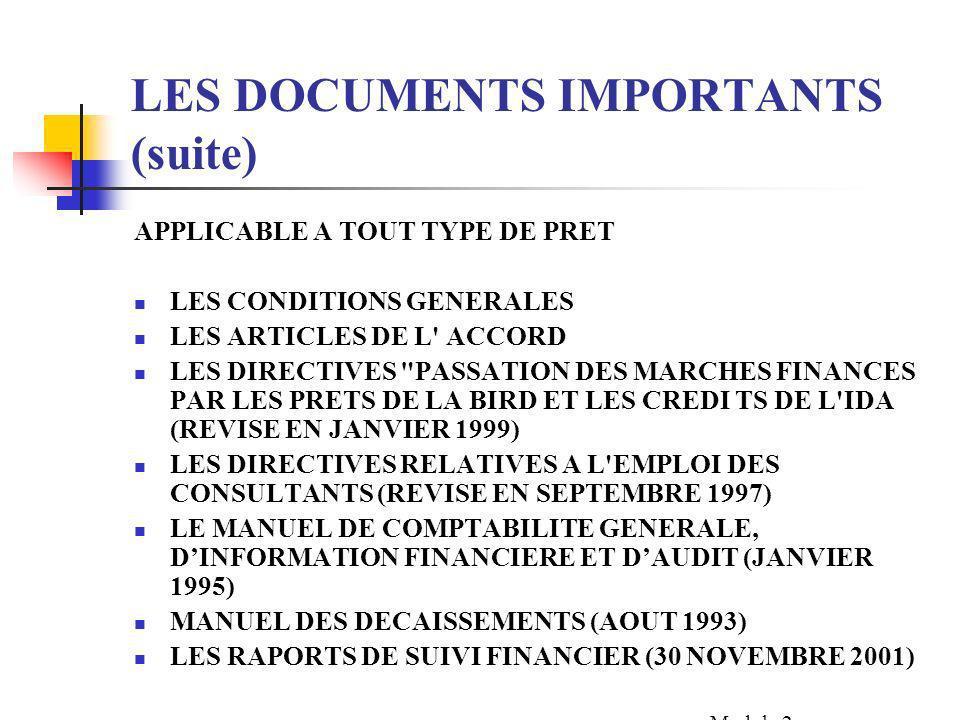 SOMMAIRE LES DOCUMENTS IMPORTANTS LES DATES IMPORTANTES LELIGIBILITE DES DEPENSES LES REFERENCES EXERCICES Module 2 Section 1- Tr. n° 44