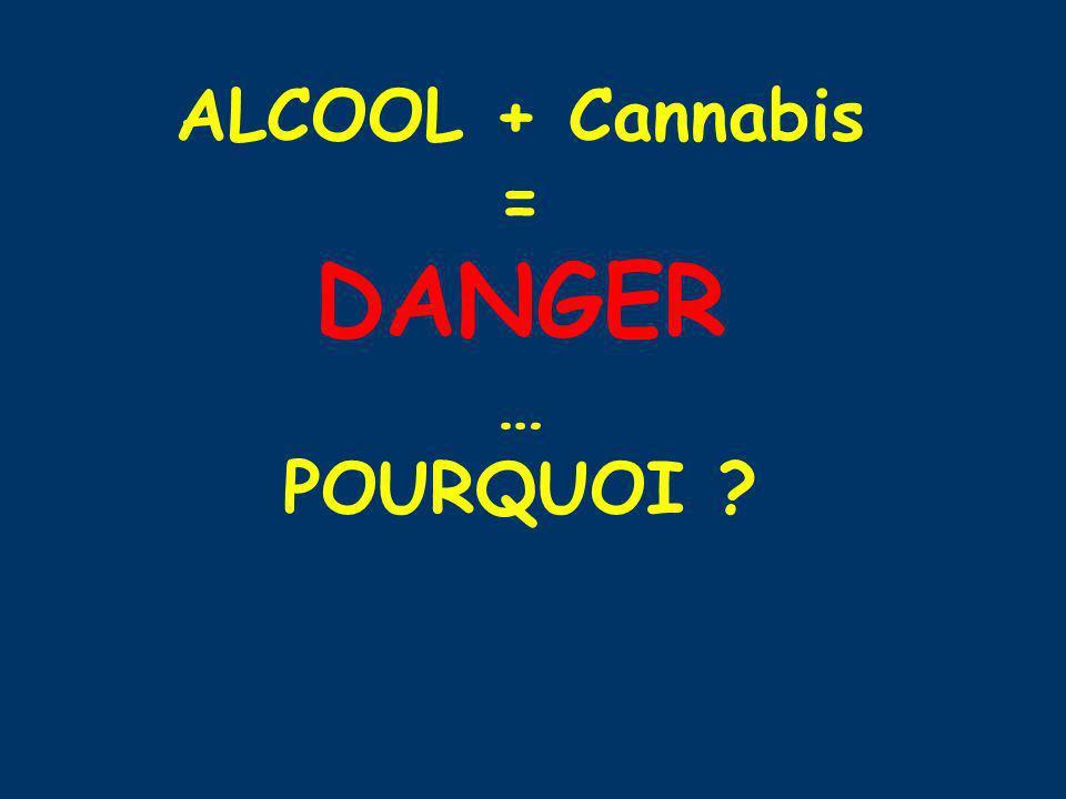 ALCOOL + Cannabis = DANGER … POURQUOI ?