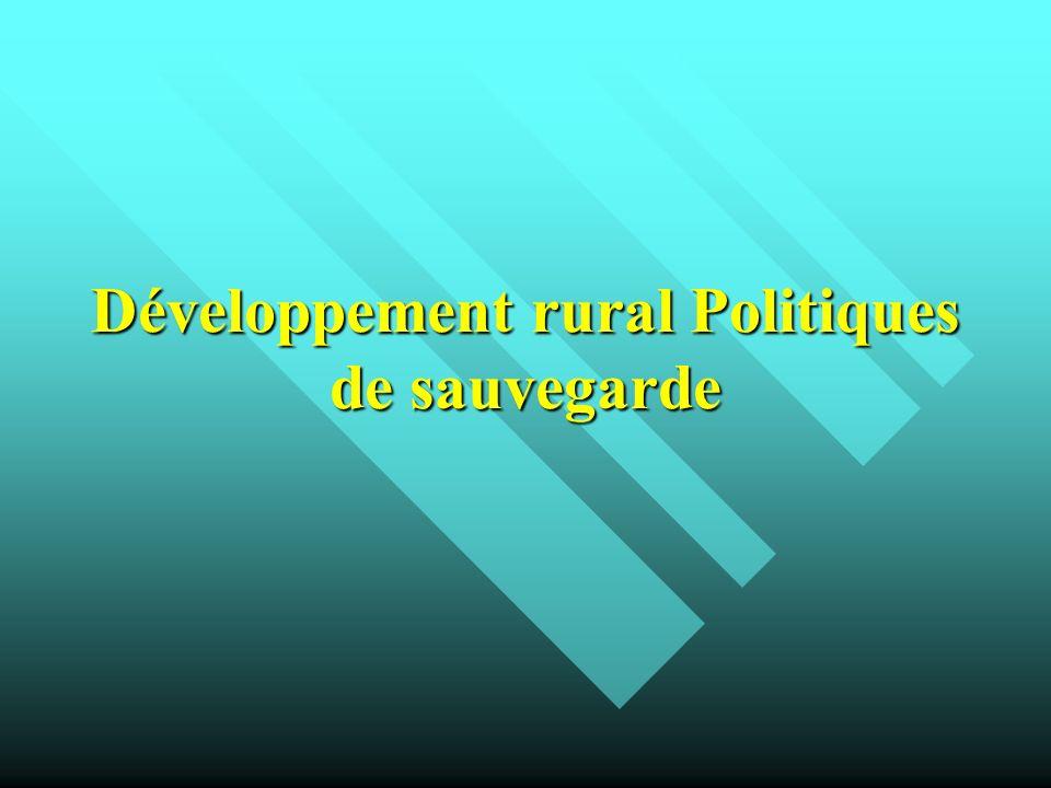 Développement rural Politiques de sauvegarde