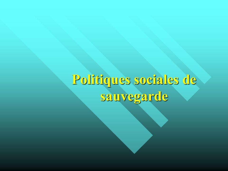 Politiques sociales de sauvegarde