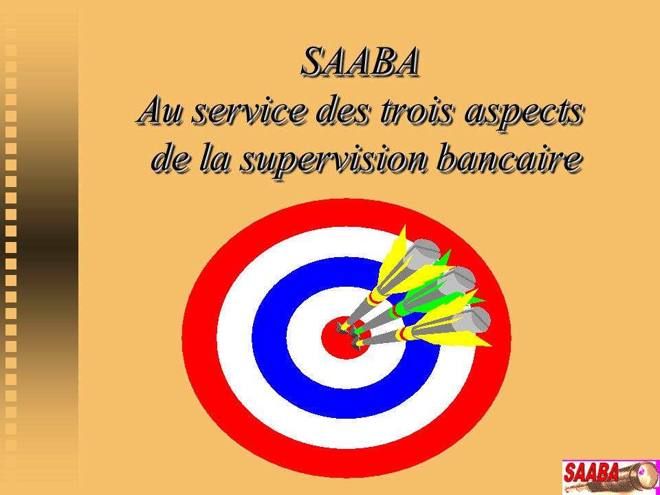 SAABA Au service des trois aspects de la supervision bancaire
