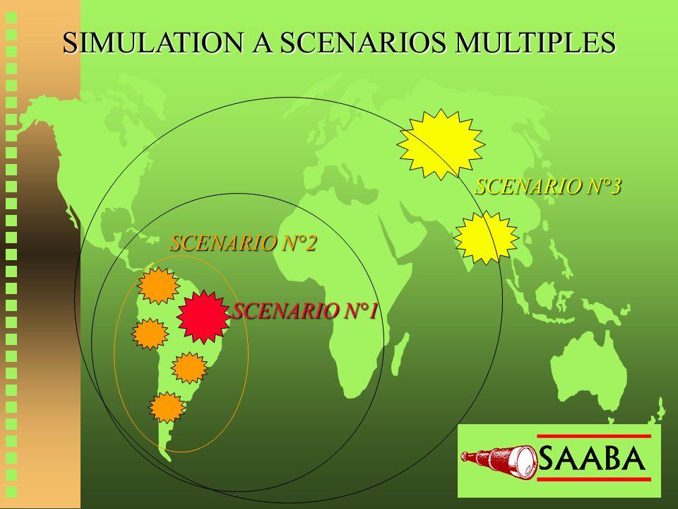 SIMULATION A SCENARIOS MULTIPLES SCENARIO N°1 SCENARIO N°2 SCENARIO N°3