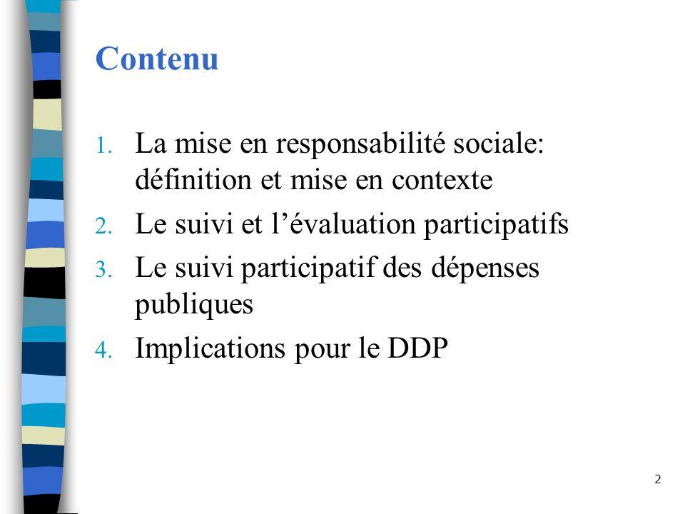 2 Contenu 1.La mise en responsabilité sociale: définition et mise en contexte 2.