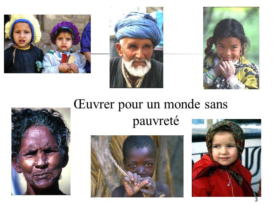 3 Œuvrer pour un monde sans pauvreté