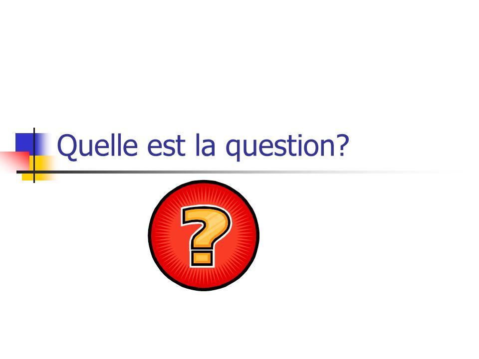 Posez la question avec inversion et une autre façon 4.