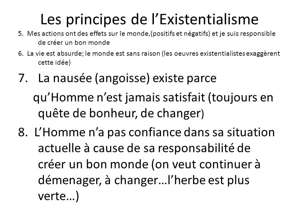 Rédaction Écrite LExistentialisme et La Nausée.