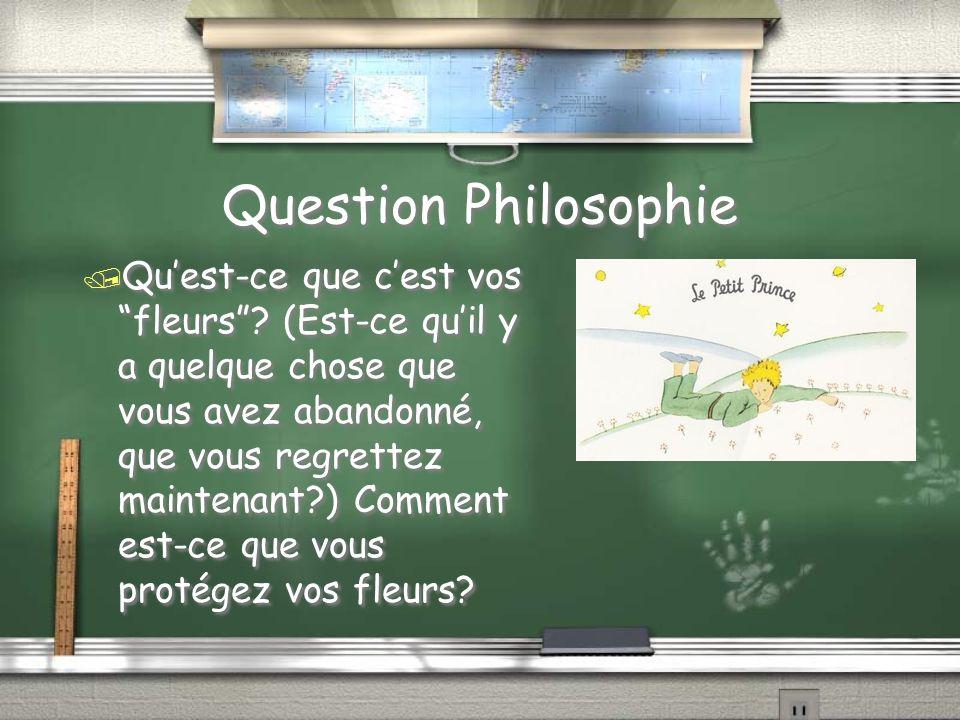 Chapitre 15 / Pourquoi est-ce que le réponse de question cinq sinquietè le petit prince