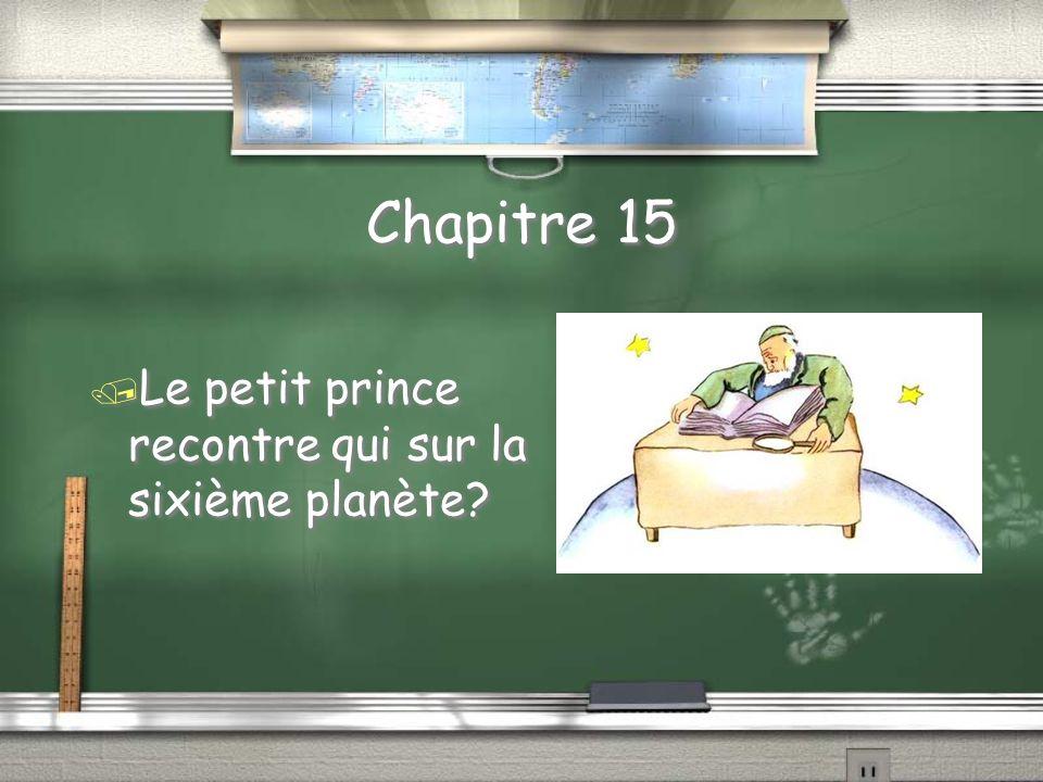 Chapitre 14 Selon le petit prince, à fin de chapitre, pourquoi l homme n est pas ridicule