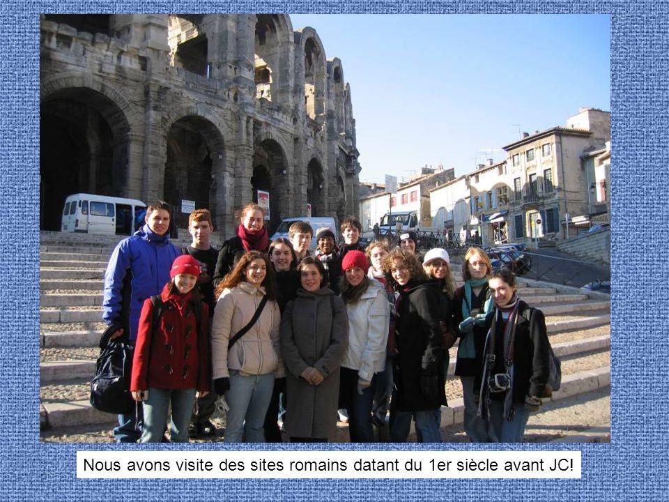 Nous avons visite des sites romains datant du 1er siècle avant JC!