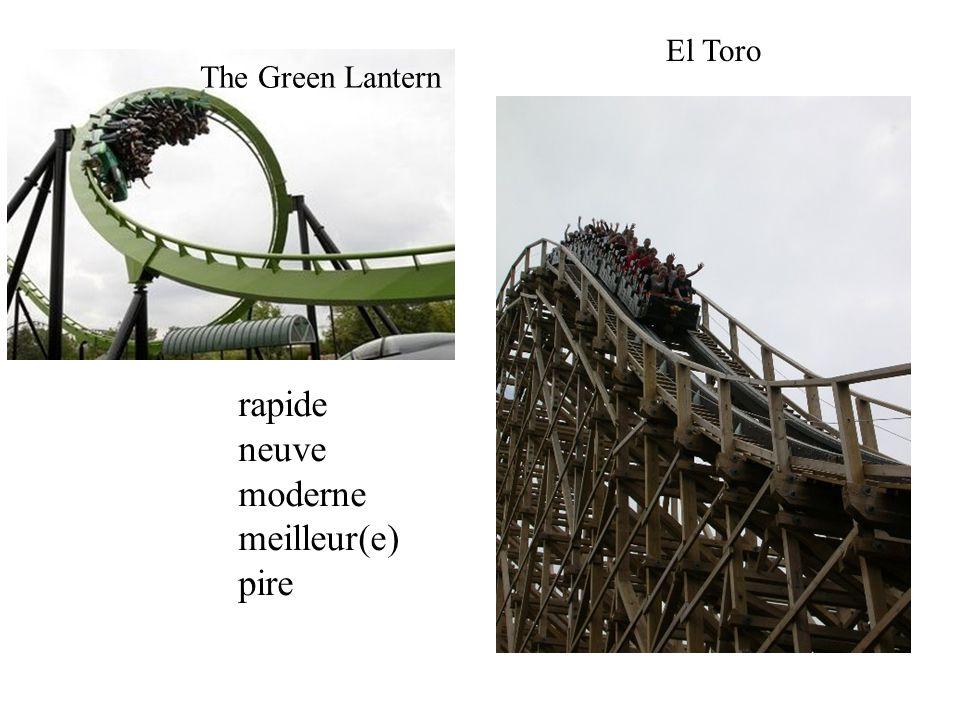 The Green Lantern El Toro rapide neuve moderne meilleur(e) pire