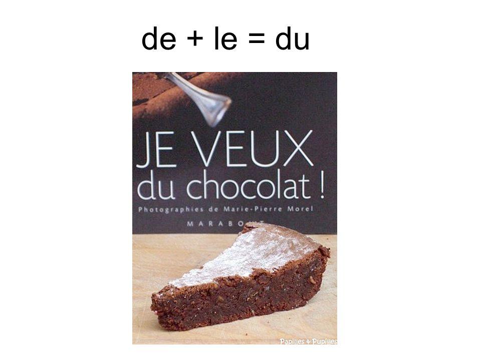 de + le = du