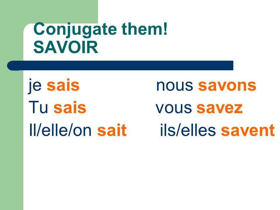 Conjugate them.