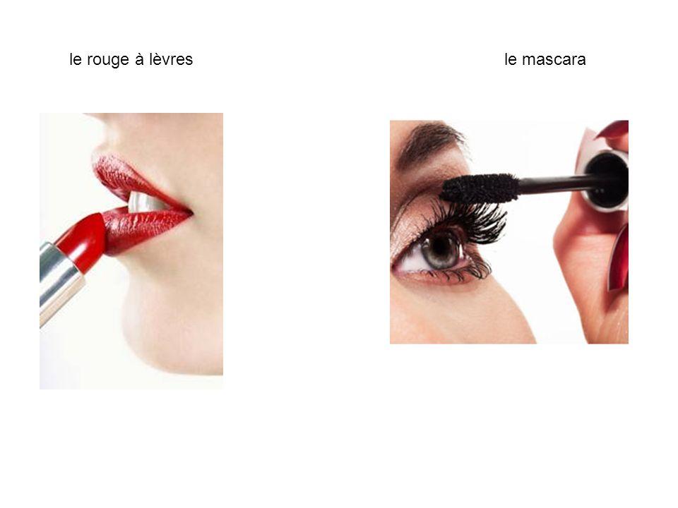 le rouge à lèvresle mascara