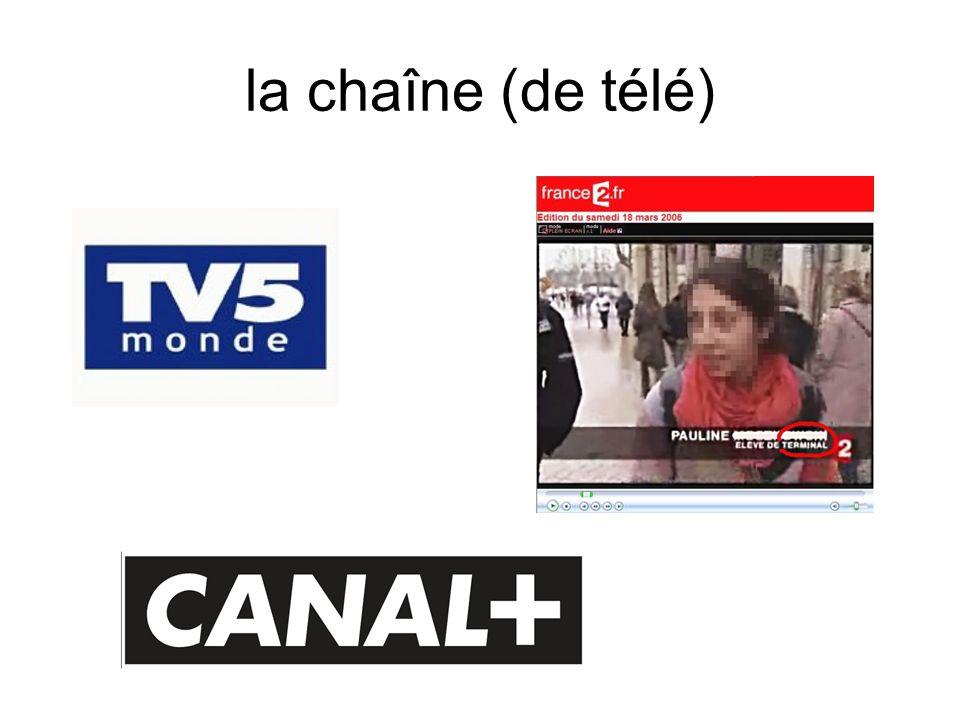 la chaîne (de télé)