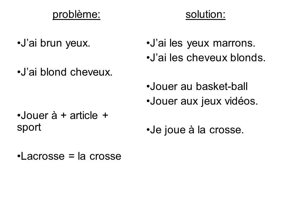 problème: Jai sciences.Jai geometry Jai le Français.