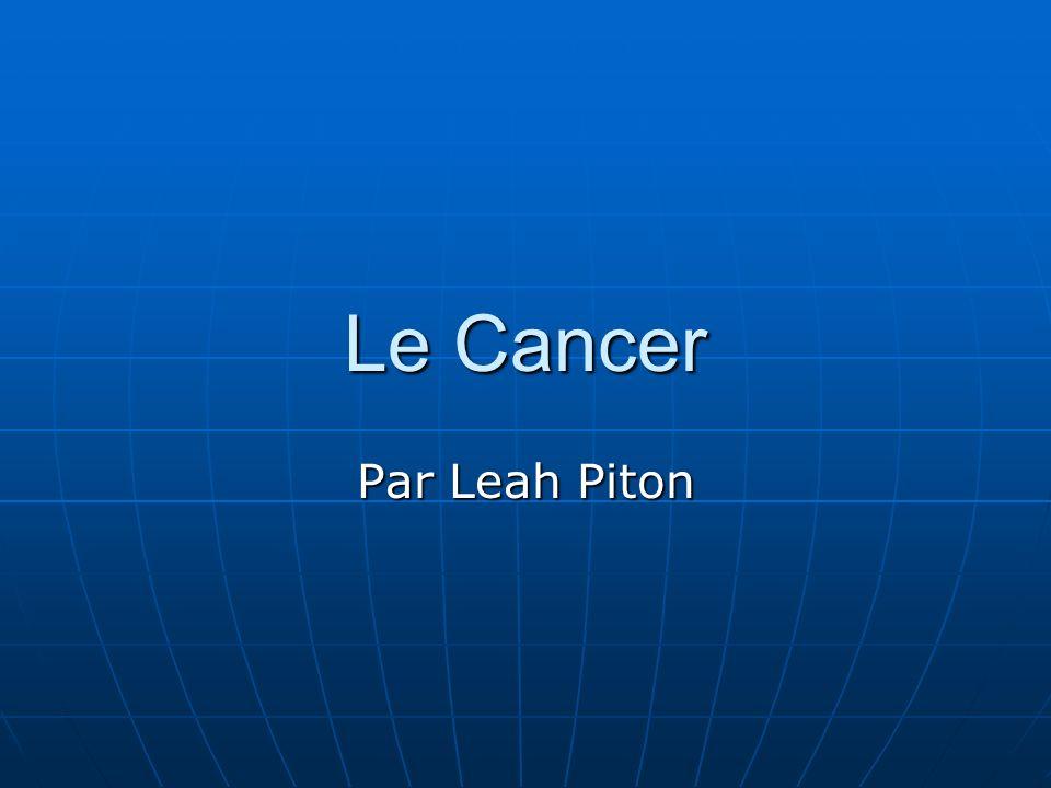 Le Cancer Par Leah Piton