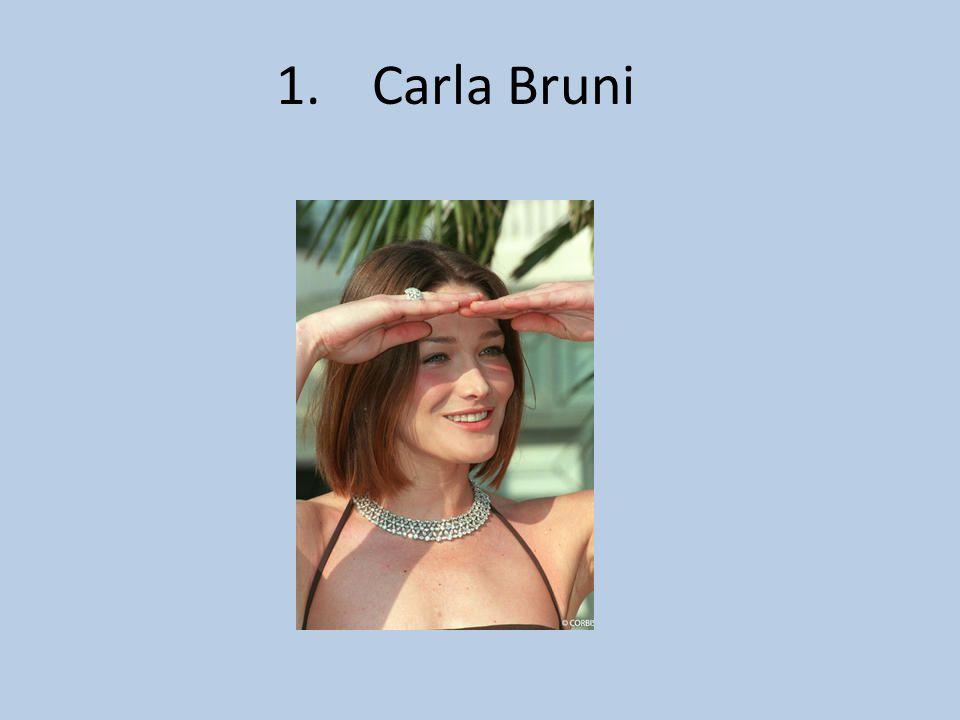 1.Carla Bruni