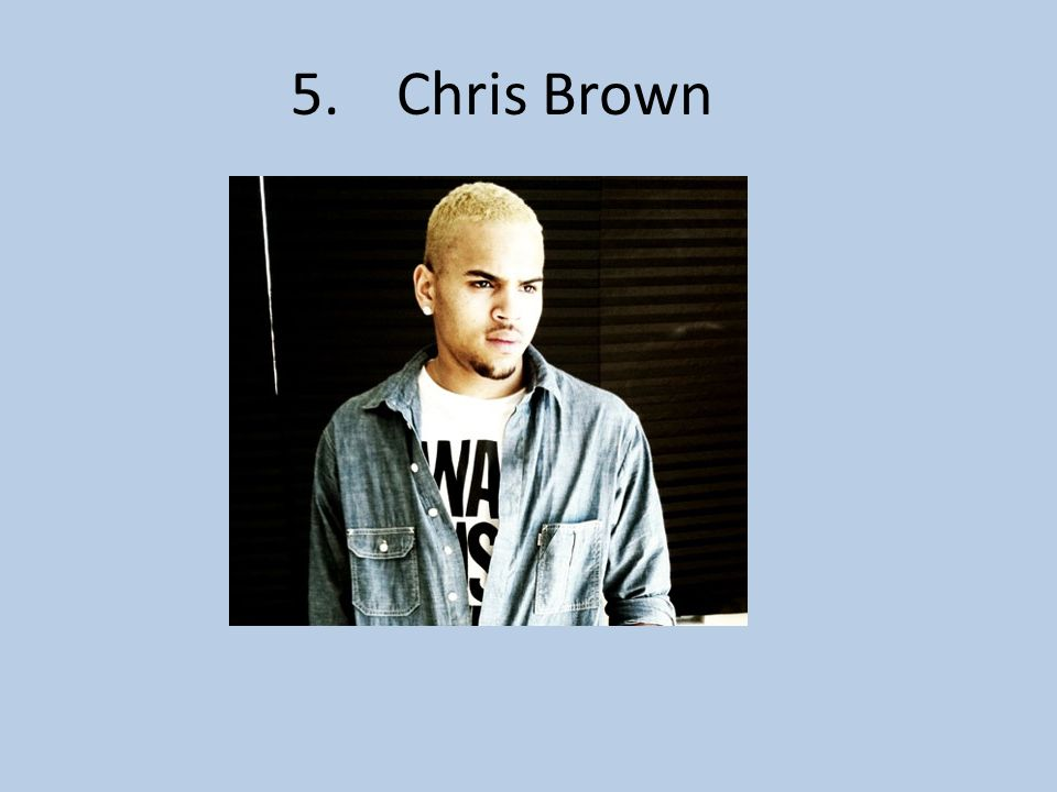 5.Chris Brown