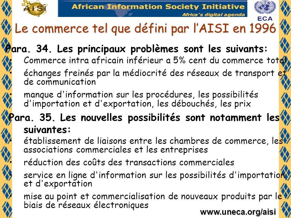 www.uneca.org/aisi Conclusion En tant que membre du réseau africain de guichets uniques la CEA offre ses compétences, ressources et services pour soutenir et coordonner la mise en place dun modèle africain de guichet unique et le réseau qui en découlerait