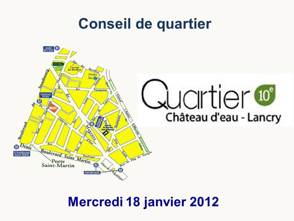 Conseil de quartier Mercredi 18 janvier 2012