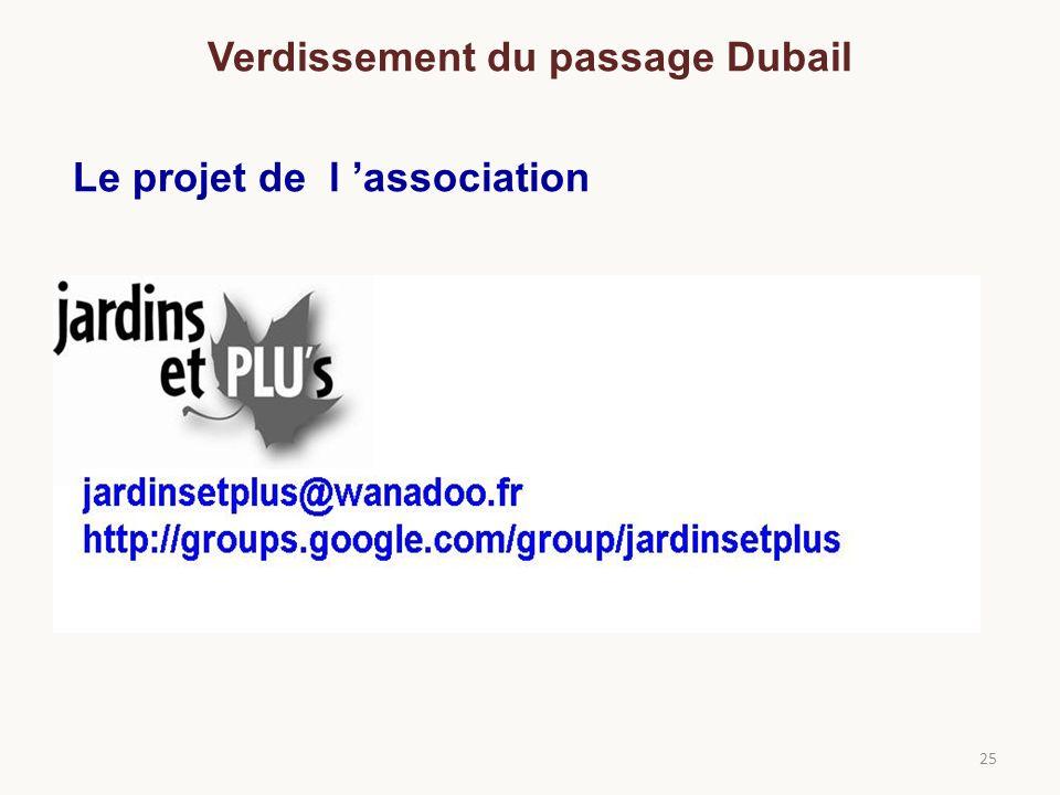 25 Le projet de l association Verdissement du passage Dubail