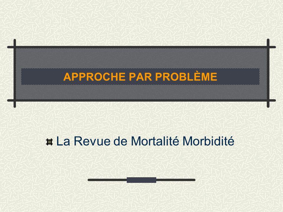 APPROCHE PAR PROBLÈME La Revue de Mortalité Morbidité