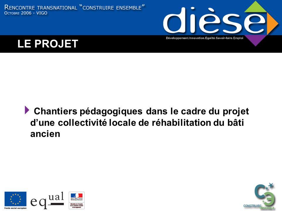LE PROJET Chantiers pédagogiques dans le cadre du projet dune collectivité locale de réhabilitation du bâti ancien